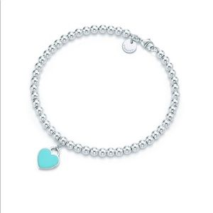 Sterling silver tag with Tiffany Blue finish